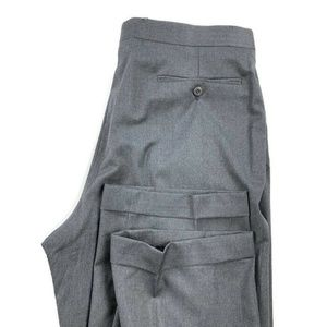 Zanella Duncan Gray Dress Pants 100% Wool